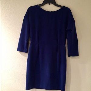Sandro blue long sleeve mini dress